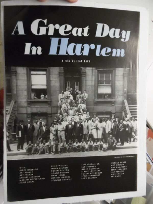 1994 A GREAT DAY IN HARLEM Documentary Movie Poster on Art Kane Photo ORIGINAL