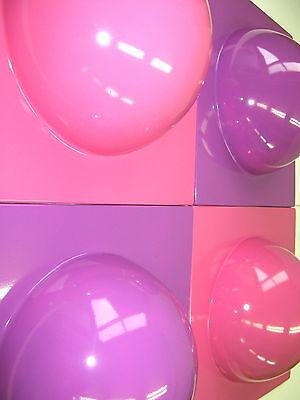 4 Bubble Elemente 70er 60er Style POP ART Wand Bild  2 pink 2 violett  Nr 8