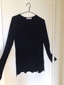 Black long shirt with low neck