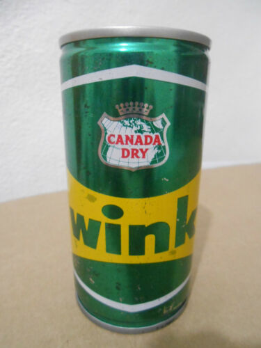 CANADA DRY WINK COLA CRIMPED STEEL PULL TAB 10OZ 284ML SODA CAN * TORONTO