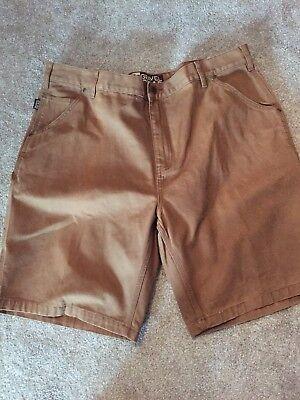 Gravel Gear Heavy Duty Carpenter 7 Pocket Shorts - Tan Size 42
