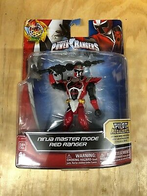 (Power Rangers Ninja Master Mode Red Ranger New in Package)