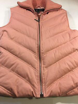 BLANC NOIR Down Vest Women's Peach Color Quilted Puffer Size Medium GUC!](blanc noir puffer vest)