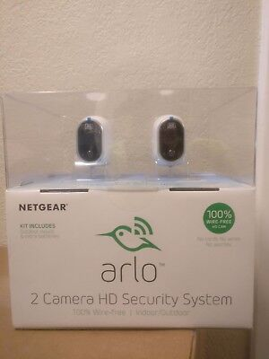 Netgear Arlo Smart Home Security Camera System - 2 HD, Wire-Free, Indoor/Outdoor