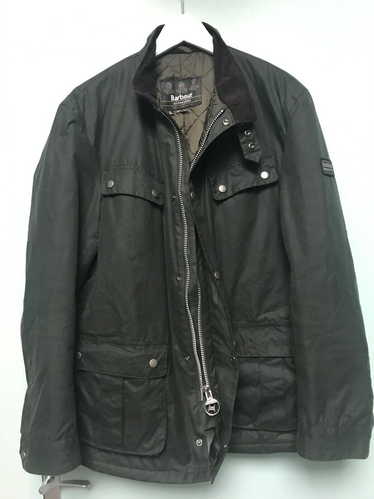 Veste barbour international duke wax jacket olive / kaki xl