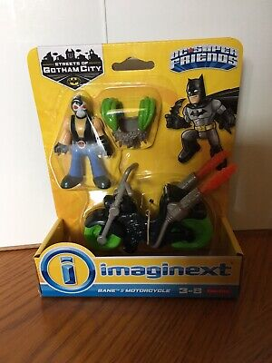 Fisher Price Imaginext DC Super Friends BANE & Motorcycle Set New
