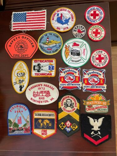 Group  Lot of Generic Patches and 1 Sticker New and Used Mix.  3 Pictures
