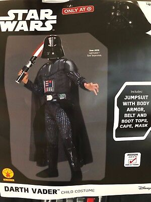 NEW Star Wars Darth Vader Halloween Costume Youth/Child Kids Size M Medium