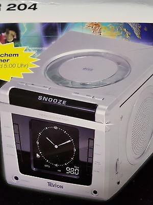 CD Radio uhrenradio küchenradio mit cd player kinderzimmer Silber (Uhr Mit Cd-player)