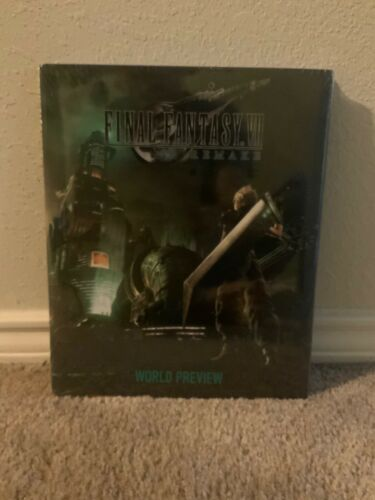 Final Fantasy VII Remake World Preview hardcover Art Book, FF 7, USA English