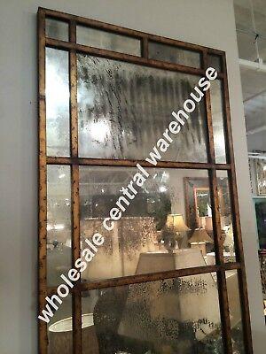 "New Industrial Restoration Windowpane Leaning Dressing Mirror Floor Wall XL 79"""