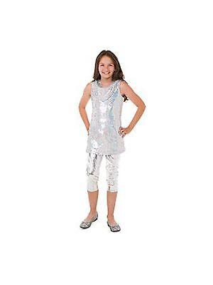 NEW Girl Disney Camp Rock Silver Sequin Halloween Costume Bling Tween Size XS 6 - Camp Rock Halloween Costumes