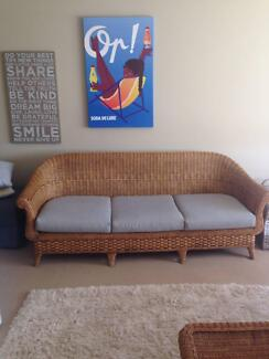 Cane Lounge - 3 Seater Cremorne North Sydney Area Preview