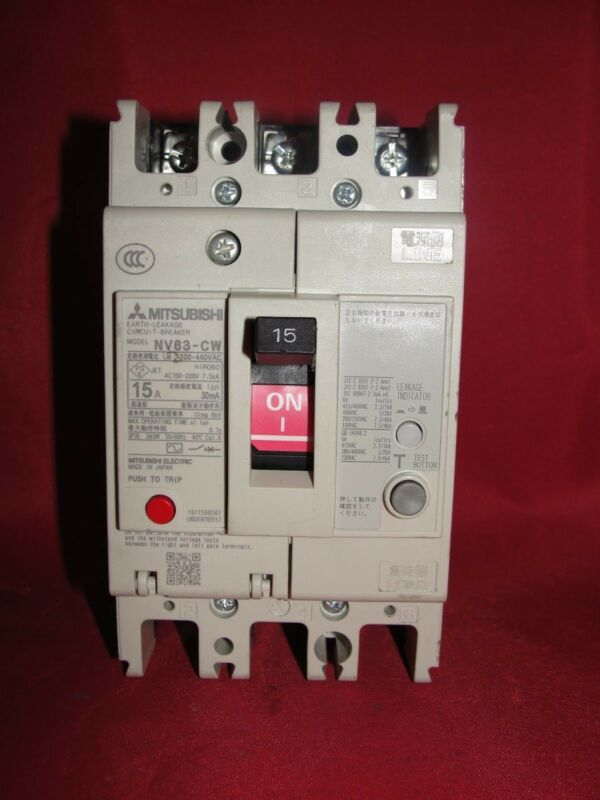 Mitsubishi Electric NV63-CW Earth Leakage Circuit Breaker 100-440 VAC