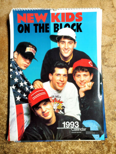 "2021=1993 New Kids on Block UK Calendar-12 Large Color Prints- 12""x16""(FW-93-08)"