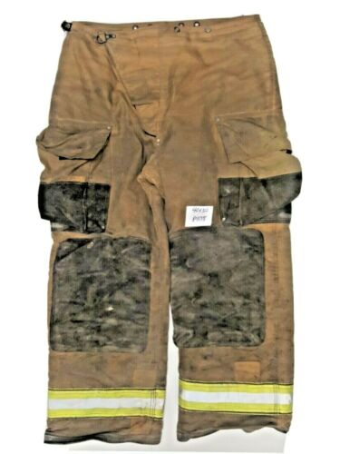 40x30 Globe Brown Firefighter Turnout Pants with Yellow Reflective Tape P1175