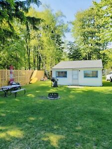 Ipperwash beach cottage near Grand Bend on lakefront property