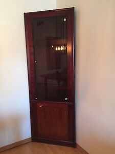 Meuble en coin - armoire porte vitrée - Rangement pour verres