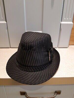 Women's Black Pin Stripe Fancy Dress Gangster Style - S Themen Kostüme