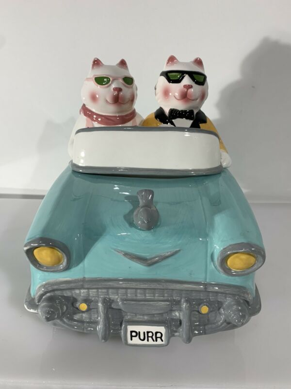 Vintage Collectible Clay Art Cookie Jar  Cruisin