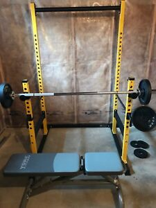 Squat Rack, Olympic Weight Set, Incline Bench