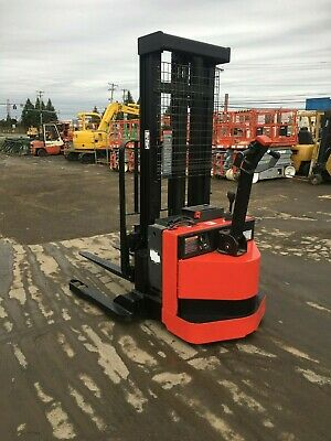 2005 Raymond Walk Behind Elec. Forklift 4000 Cap. 128 Lift Side Shift 24v Chgr