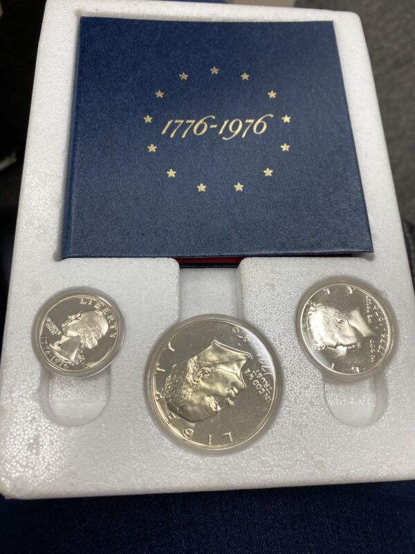 1776-1976-S 3 Piece 40% Silver United States Bicentennial Proof Set
