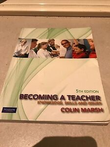 Becoming a Teacher 5ed Colin Marsh Rivervale Belmont Area Preview