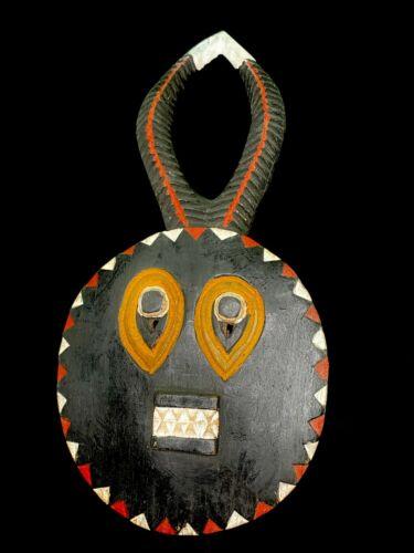 African Goli Horned Mask Akan Tribe Ivory Coast African Mask (2723 - O)