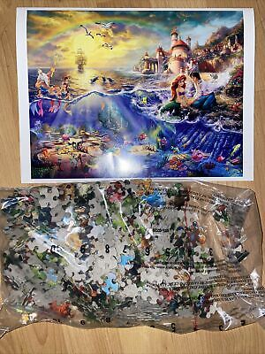 Disney The Little Mermaid - Thomas Kinkade 500 Piece Puzzle 18 x 14 Sealed Bag