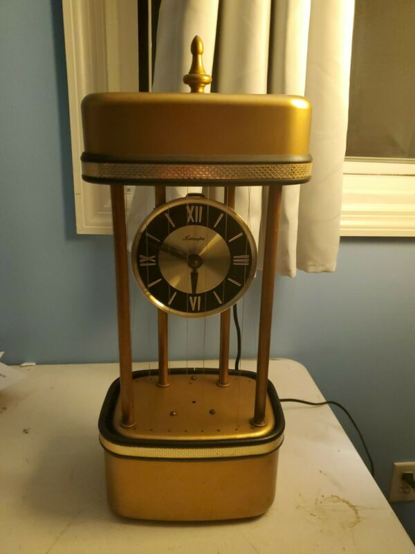 Extremly Rare Vintage Clock Rain Oil Lamp - Mastercrafters - Needs Work