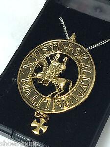 Masonic Knights Templar The Two Riders Pendant & Chain Jerusalem Cross Talisman