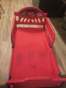 Toddler Bed (Cars) w/ Mattress in excellent use!  Kitchener / Waterloo Kitchener Area image 1