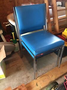 REDUCED PRICE Vintage / retro chairs , stainless steel
