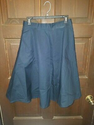 La Redoute Poplin Flare Midi Skirt With Pockets Navy Blue Size USA 8  - La Redoute Skirt