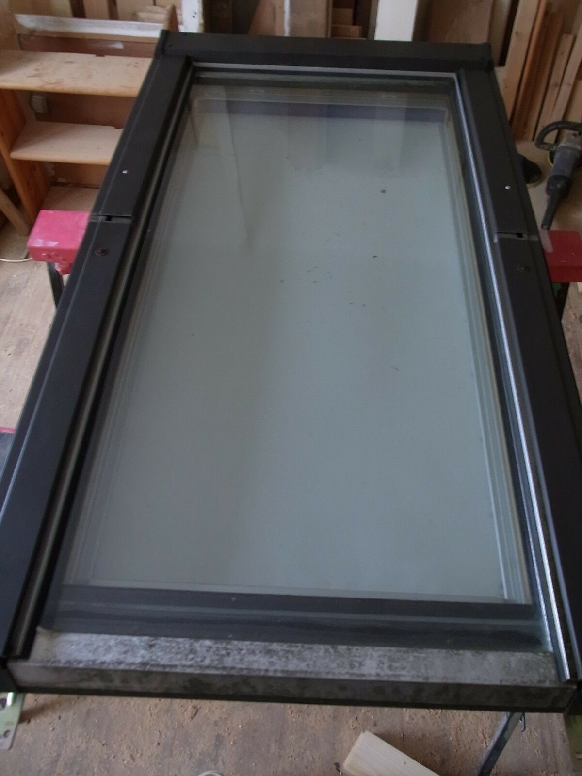Roto Dachfenster 735 HAT 6/11 65x118cm mit Innenrollo blau