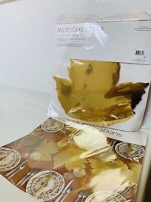 "8 Martha Stuart Decorative Thanksgiving Table 14.75""x 14.75"" Leaf Mats New"