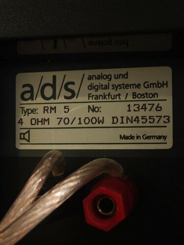 a/d/s   Braun RM5 Monitor  Rare AUDIOPHILE Made In Germany