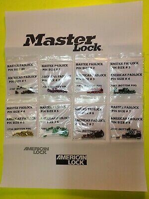 Master American Lock Padlock Cyliner Rekey Pin Set Kit Lot Locksmith Lock Sport