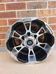 WHEELEGEND Matte Black Machined Face 15x8 6x139.7 -10 Seven Hills Blacktown Area Preview