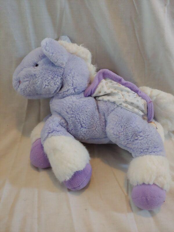 Animal Alley plush purple white Pegasus silver glitter wings FLAWS Toys r us