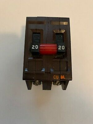 Wadsworth 20 Amp Double Pole 2p 20 Amp 20a Circuit Break Metal Feet Tested