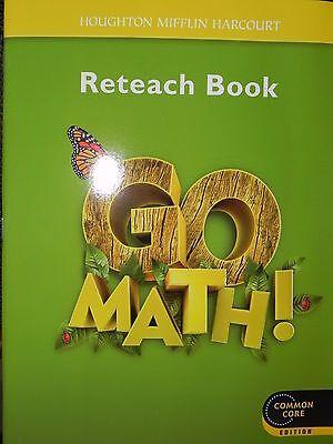 Go Math Reteach Workbook 1St Grade Level 1 Houghton Mifflin Harcourt Common Core