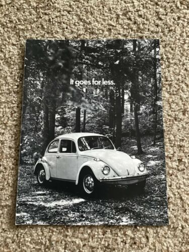 1970  VW Beetle engine information sales literature.