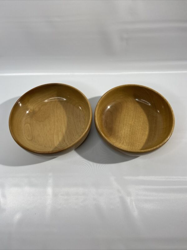 Oregon Myrtlewood 6 Inch Bowls Turned Handcrafted Set Of 2