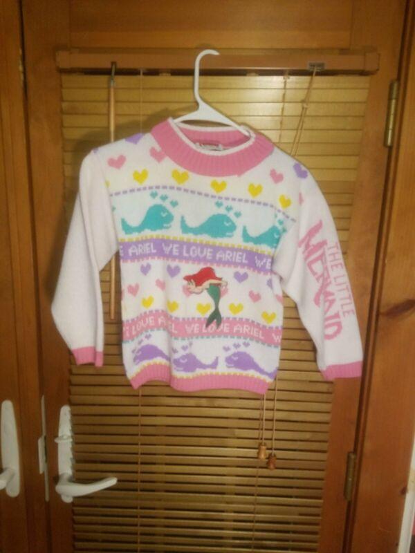 Vintage Disney Ariel Little Mermaid Girls  Sweater Size 18 Youth XL HOT CASHEWS