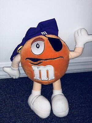 "Children's M&m Halloween Costume (8"" M&M Halloween Orange Pirate Costume Chocolate Plush Stuffed Animal Toy)"