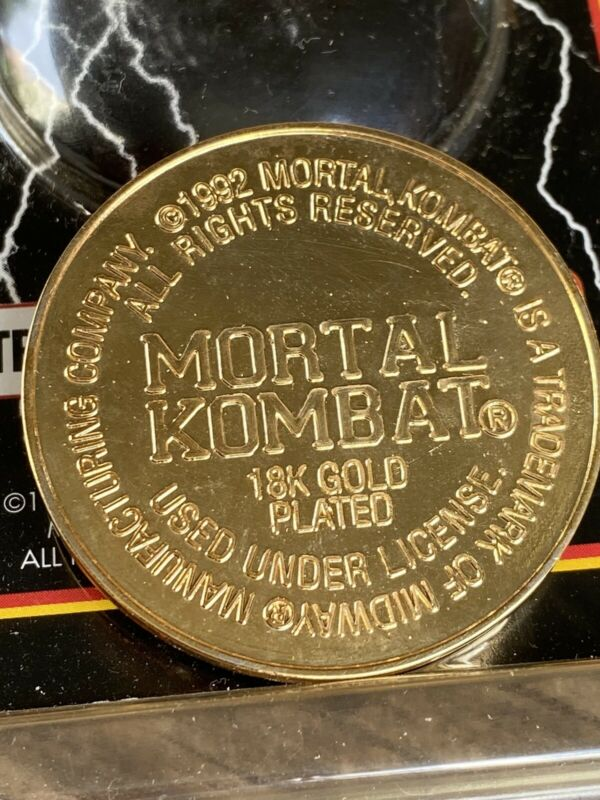 10 Coins MORTAL KOMBAT TROPHY EDITION 18K Gold  SLAMMER 1992 Commemorative Metal