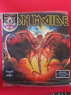 Iron Maiden Fear Of The Dark Sweatshirt Shirt Vintage 1992 New