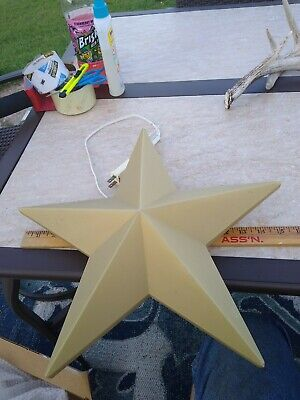 Vintage Gold Star Plastic Blow Mold Grand Venture Christmas Nativity Bethlehem